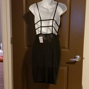Black draped dress